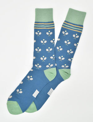 Anyone for Tennis: Socks - Blue