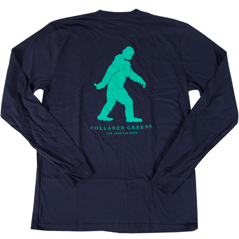 Sasquatch Long Sleeve T-Shirt Long Sleeve T-Shirts - Collared Greens American Made