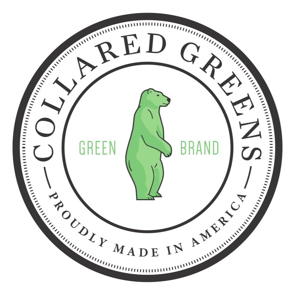Circle Logo Car Decal Stickers - Collared Greens American Made