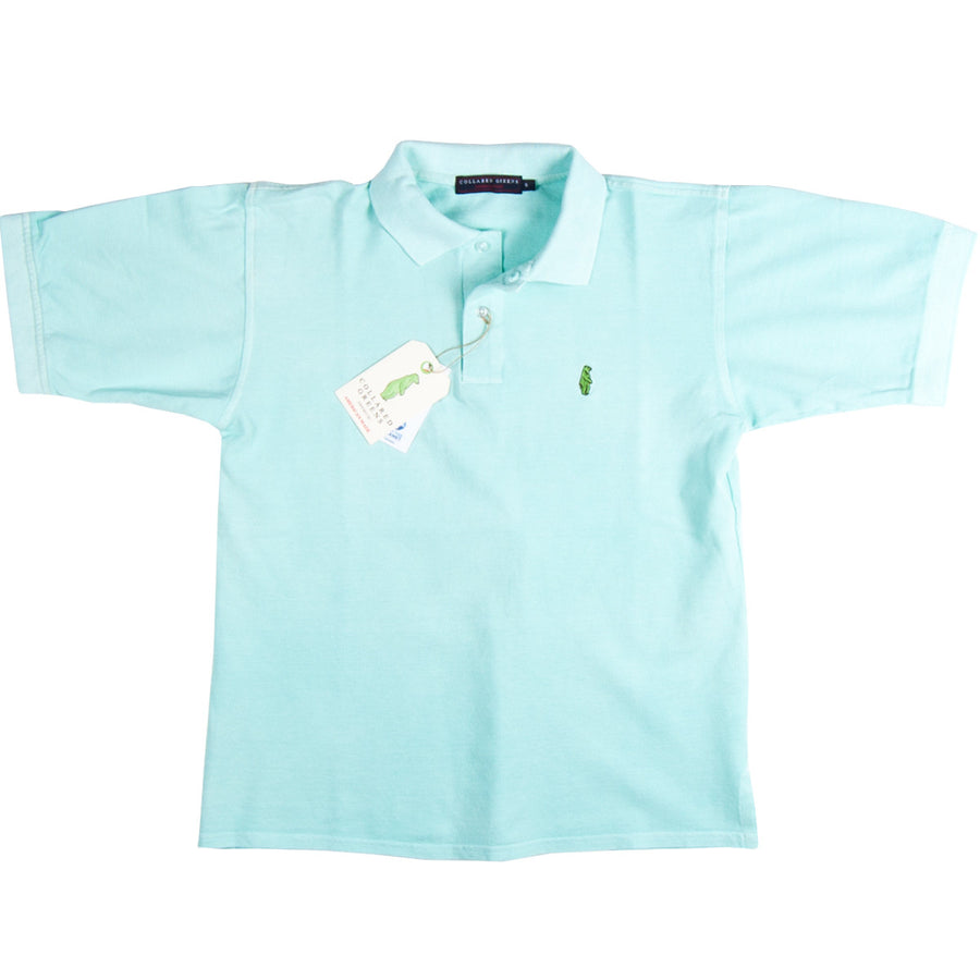 Home Grown Polo. Seafoam. American Made Polos - Collared Greens American Made