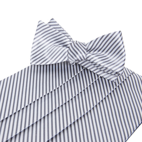 Signature Series Wolf Grey Cummerbund and Bow Tie Set