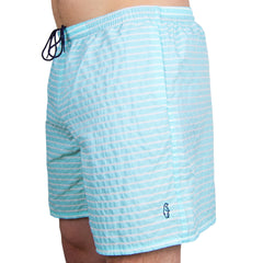 All-Day Swim Trunks Striped Seafoam