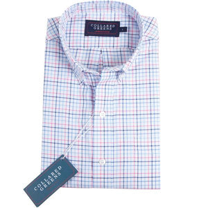 American Made Collared Greens Stuart Button Down Gingham Pink Blue
