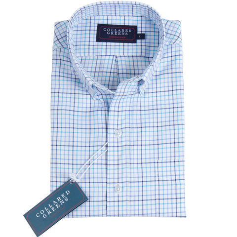 The Stuart Button Down Shirt Teal/Blue