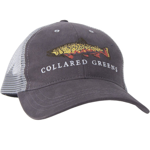 Trout Trucker Hat Grey