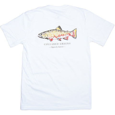 Trout Short Sleeve T-Shirt - Collared Greens