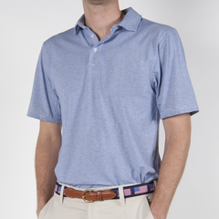 The Tucker Men's Performance Polo Dusk/White - Collared Greens