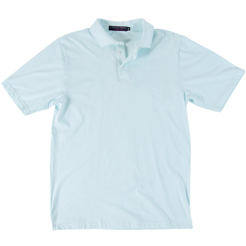 The Tucker Men's Performance Polo Pool/White - Collared Greens