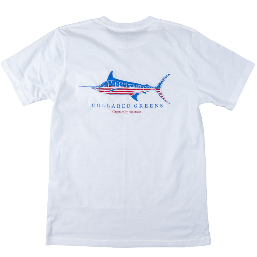 USA Marlin Short Sleeve T-Shirt - Collared Greens
