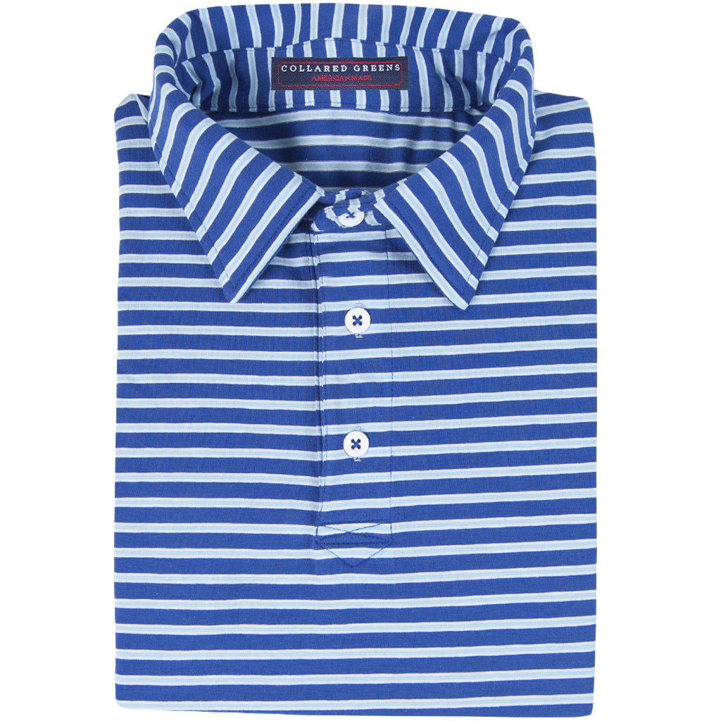 The Ward Men's Performance Polo Navy/Carolina - Collared Greens