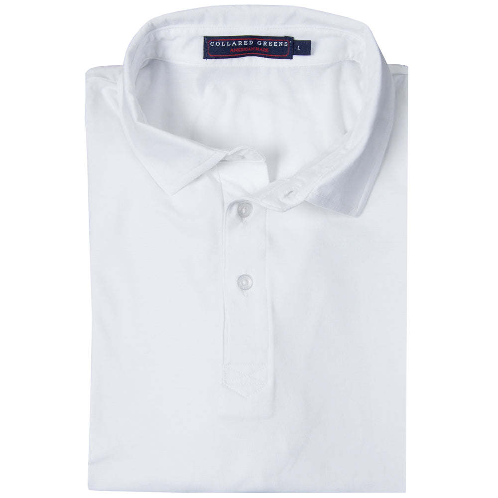 The Jones Men's Polo Performance Polo White - Collared Greens