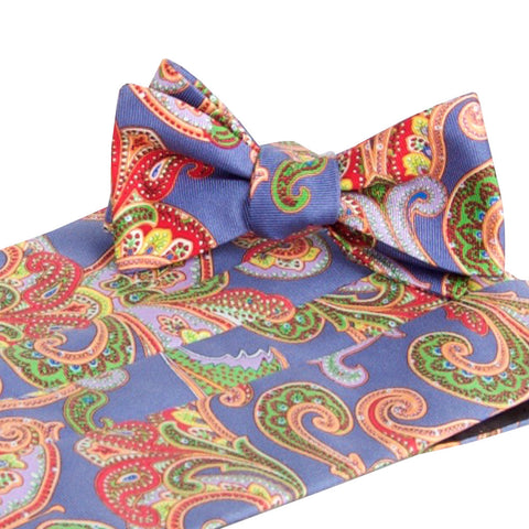Wood Blue Cummerbund & Bow Tie Set