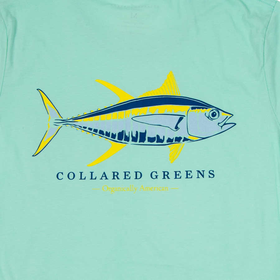 Yellowfin Tuna Short Sleeve T-Shirt - Collared Greens