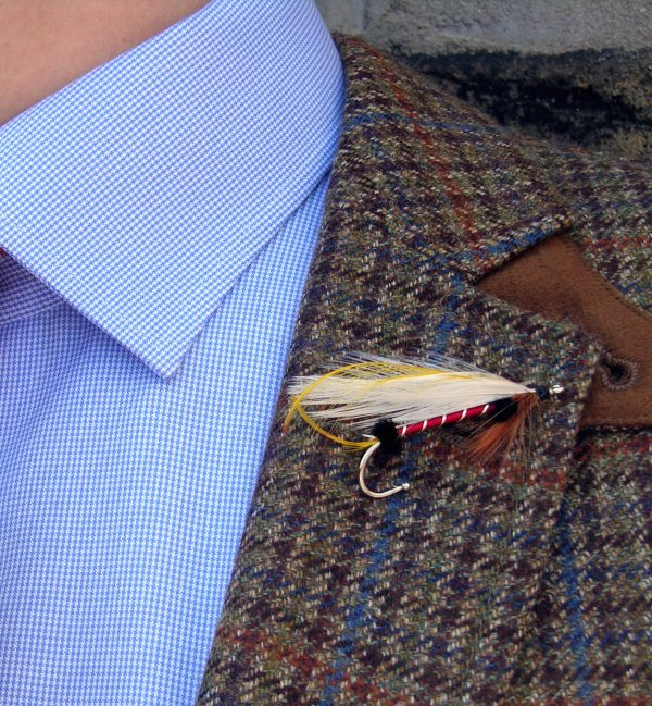 Bucktail Coachman: Lapel Pin