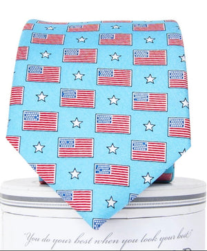 Old Glory: Boys Tie - Sky