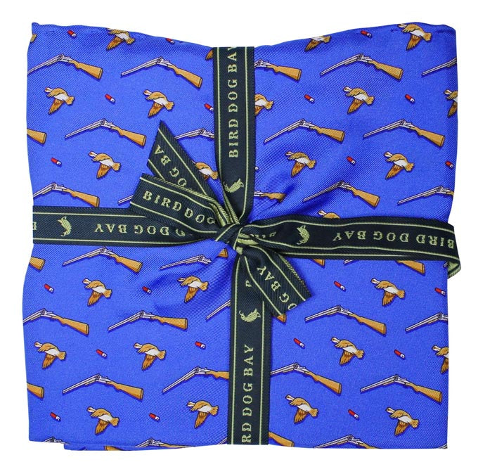 American Made Collared Greens Pocket Squares Blue Made in the USA