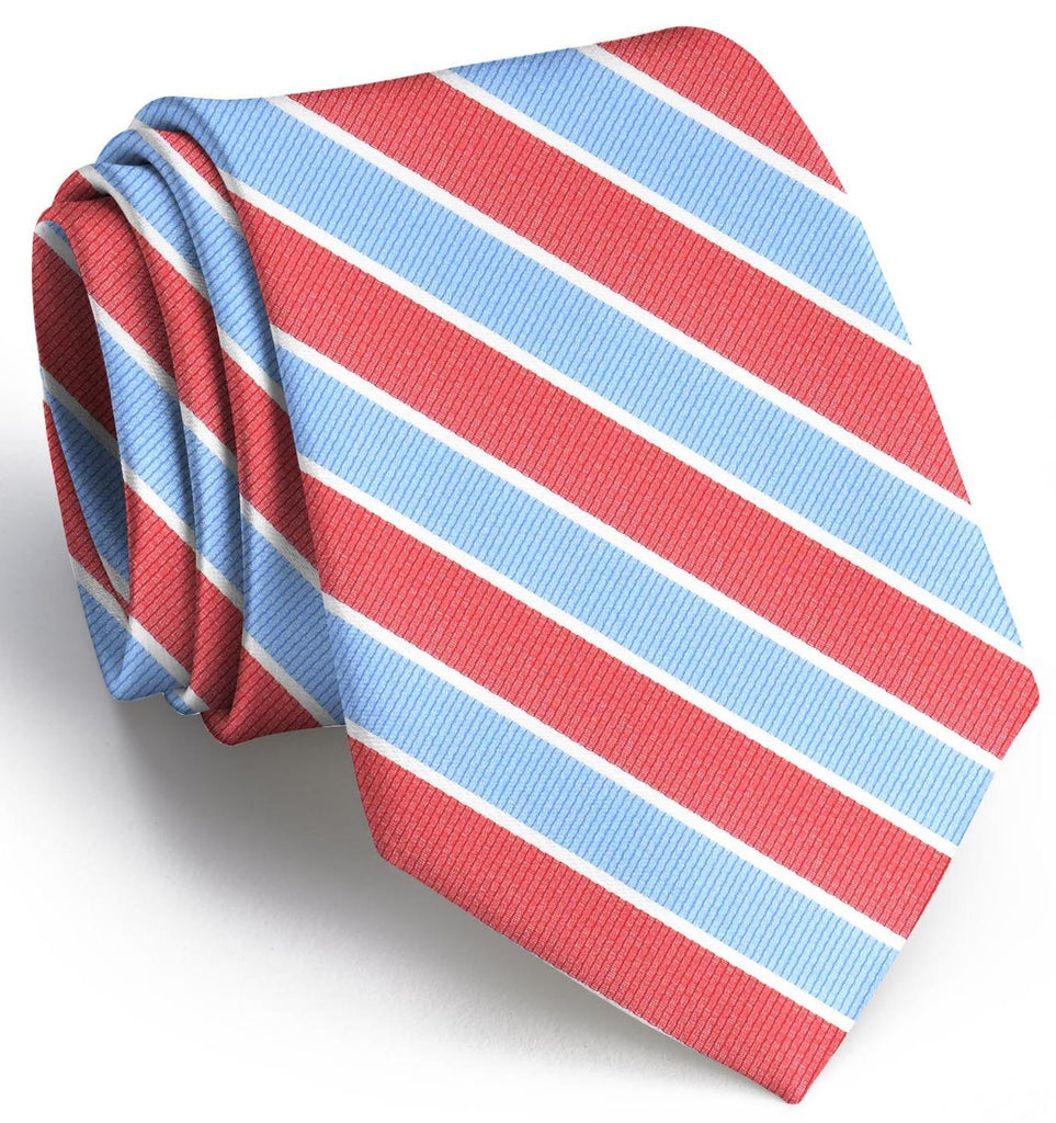 Charles: Boys Tie - Red/Carolina