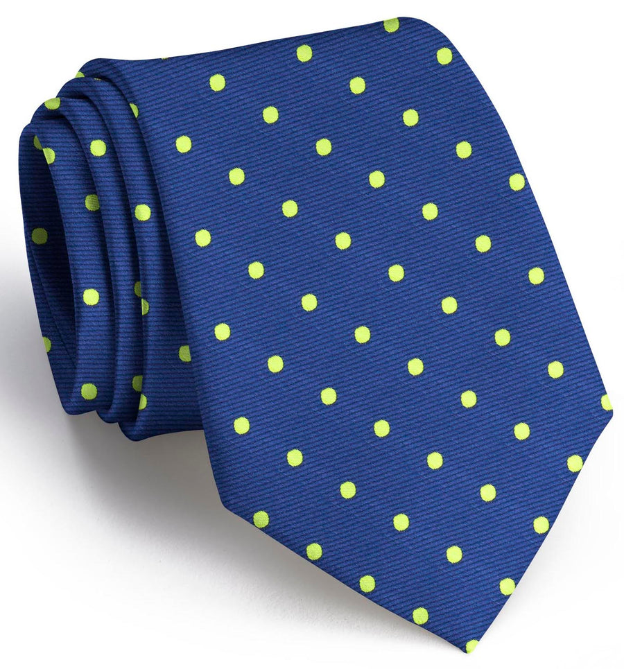 Dots: Tie - Blue/Lime
