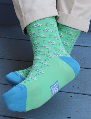 Lobster Lounge: Socks - Turquoise