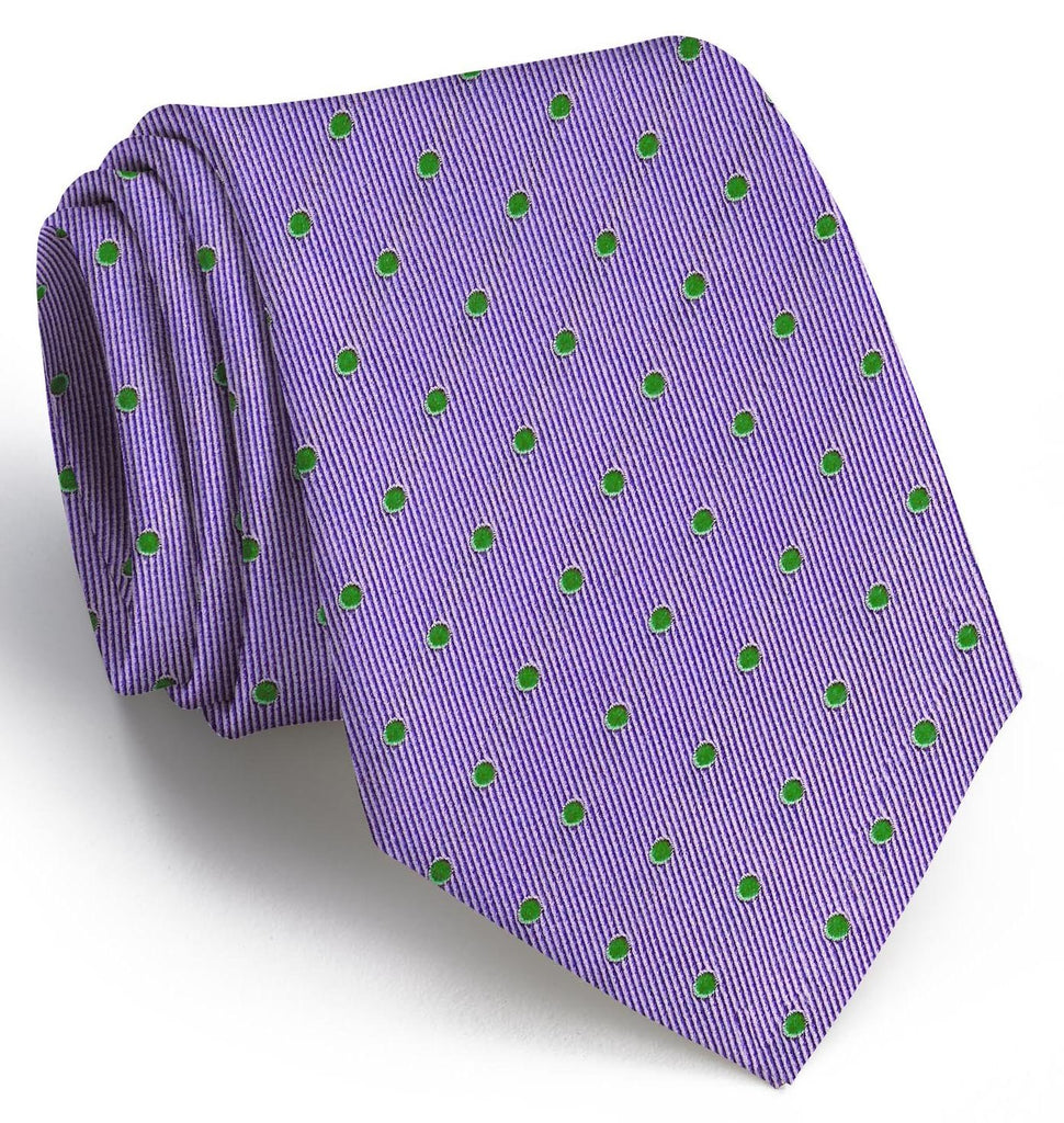 American Made Collared Greens Tie Violet/Green Made in the USA