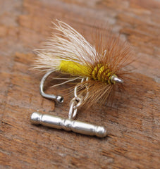 American Made Collared Greens Cufflinks - Fly Fishing Made in the USA