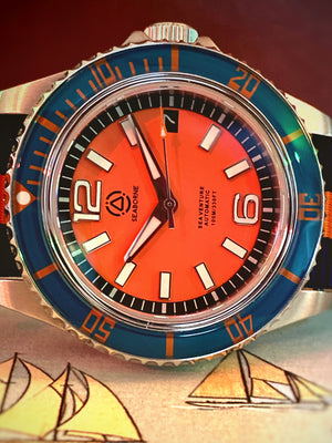 "Sea Venture Automatic - ""Sunrise Orange"" Dial"