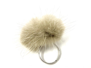 Taupe Fur Ring