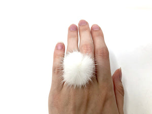 White Fur Ring