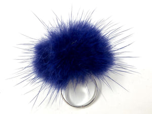 Indigo Fur Ring
