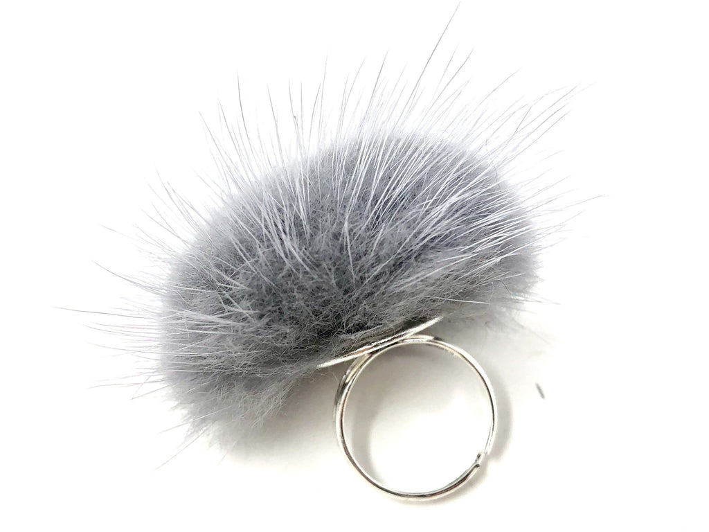 Grey Fur Ring