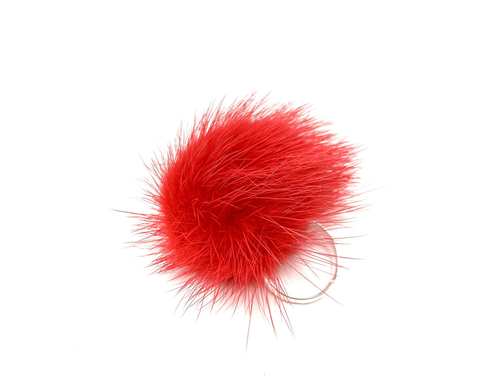 Red Fur Ring