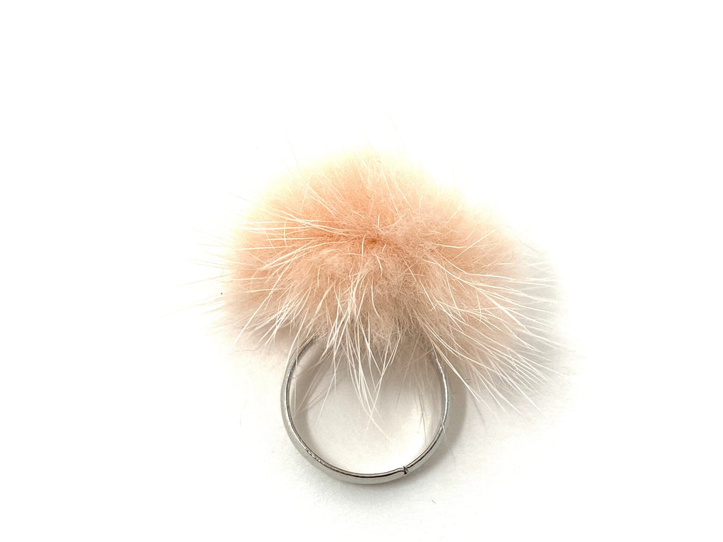 Light Pink Fur Ring