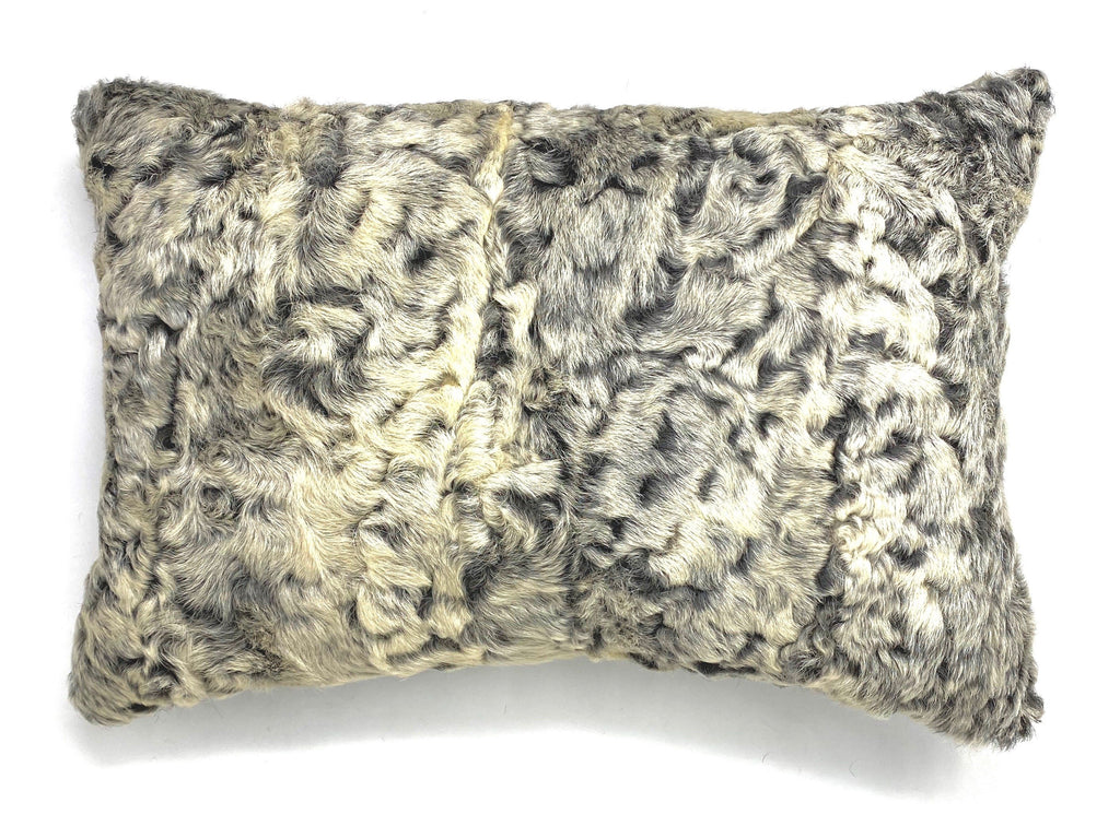 astrakhan up cycled fur pillow