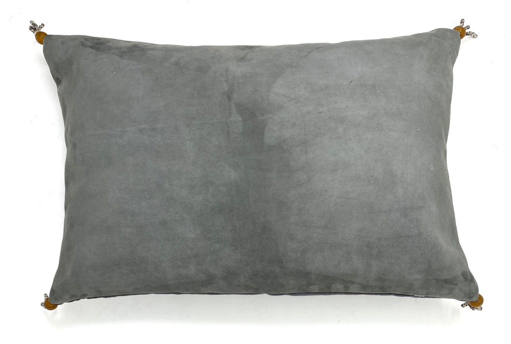 suede grey pillow