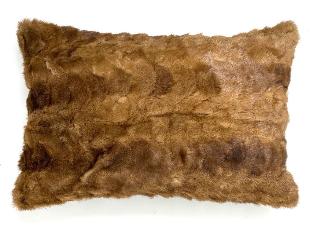 upcycled mink fur pillow