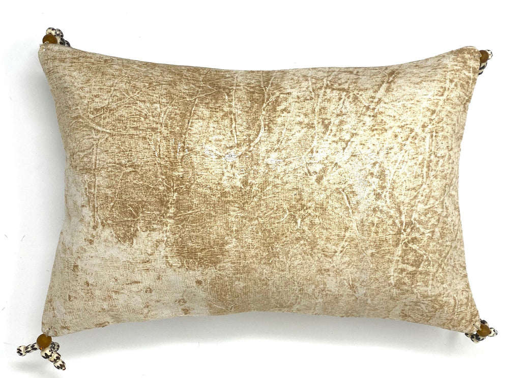 Crackled  leather throw pillow