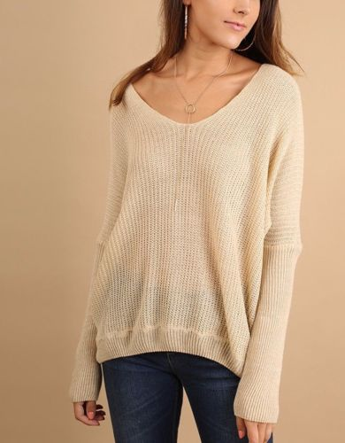 Casual Cross Back Sweater Top Light Weight Umgee Oatmeal  S M
