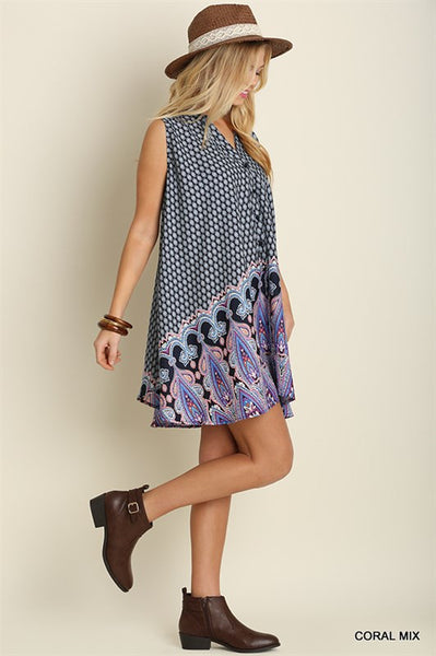 Waiting On Spring Sleeveless A line Button Down Dress S M