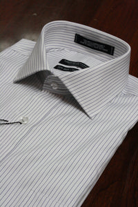 Blue Pencil Stripe Dress Shirt