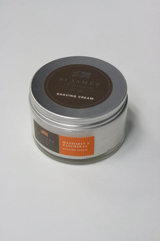 Mandarin and Patchouli Shave Cream