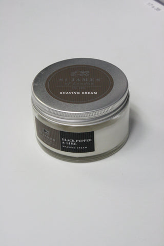 Black Pepper and Lime Shave Cream