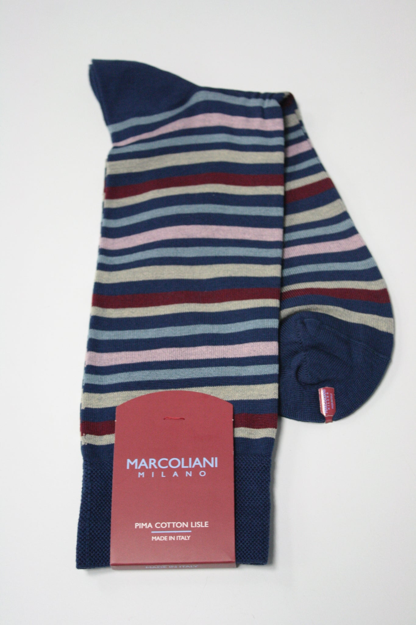 Portofino Stripe Mid-Calf Sock