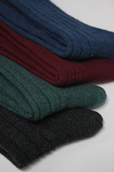Cashmere Ribbed Mid-Calf Sock