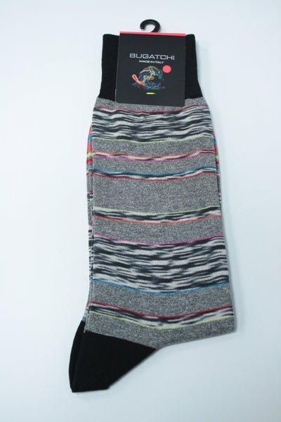 Multicolor Heather-Stripe Sock