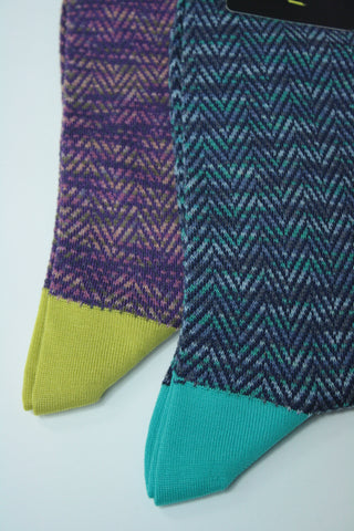 Tonal Herringbone Sock