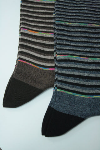 Rainbow Pencil Stripe Sock