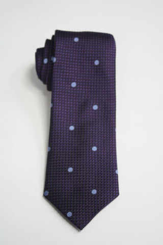Grape Embroidered Dot Tie