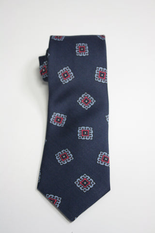 Indigo With Falling Tiles Printed Tie