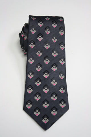 Navy Vintage Diamonds Tie