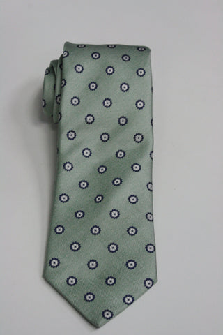 Mint Green Medallion Print Tie